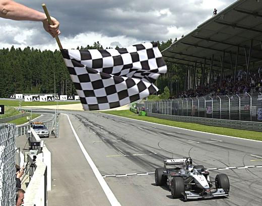 Image result for checkered flag at finish line